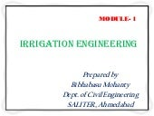 Irrigation engineering m1