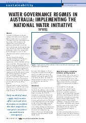 Irrigation futures  - Water governa...