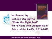 APCD Implements Incheon Strategy's ...