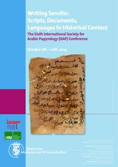 Poster for the 6th ISAP Conference, Writing Semitic: Scripts, Documents, Languages in Historical Context, Munich, 7-10 Oct. 2014