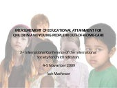 MEASUREMENT OF EDUCATIONAL ATTAINME...