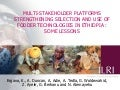 Multi-stakeholder platforms strengthening selection and use of fodder technologies in Ethiopia: some lessons