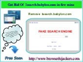 Easy way to remove Isearch.babylon.com