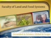 Land and Food Systems Presentation