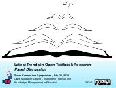 Latest Trends in Open Textbook Rese...