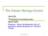 Islam And Muslim Marriages