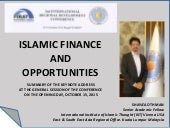 Islamic Finance and Opportunities Projected to 2020
