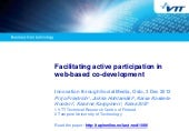 Facilitating active participation in web-based co-development