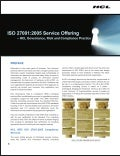 HCLT Brochure: ISO 270012005 Service Offering - HCL Governance, Risk & Compliance Practice
