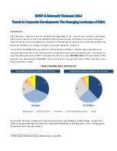 iSPIRT & Microsoft Thinknext 2014 Trends in Corporate Development: The Emerging Landscape of M&A