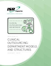 Clinical Outsourcing:  Department Models and Structures