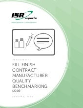Fill Finish Contract Manufacturer Quality Benchmarking (2016)