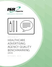 Healthcare Advertising Agency Quality Benchmarking  (2015)
