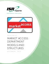 Market Access: department  models and structures