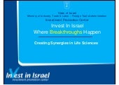 Israel Creating Synergies in Life S...