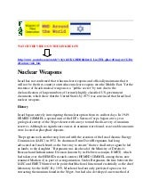 Israel has nuclear weapons