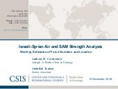 Israeli syrian air and sam strength...
