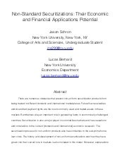 NYU, Economics: Research Paper