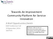 Towards An Improvement Community Platform for Service Innovation