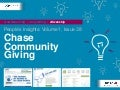 People's Insights Volume 1, Issue 39: Chase Community Giving