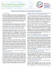 Issues Brief - Science and Technology