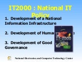 IT 2000 National IT Policy