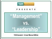 ITAM Management Vs Leadership On Au...