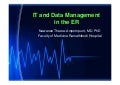 IT and Data Management in ER