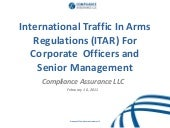 Itar for senior executives