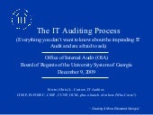It Audit Expectations   High Detail