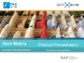 Item Matrix for SAP Business One - Product Presentation