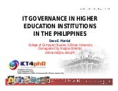 It governance in higher education i...