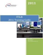 ITIL Training Reference Guide