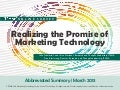 ITSMA Marketing Technology Users Survey Abbreviated Summary
