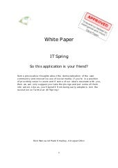 IT Spring - So this application is ...