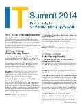 IT summit 2014-program