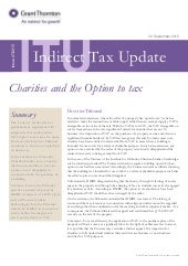 UK: Indirect Tax Update - Issue 27/215  (30 September 2015)