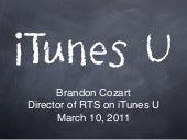 iTunes U Presentation for 2011 ACCE...