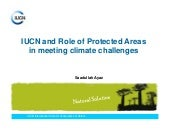 Role of Protected Areas in meeting ...