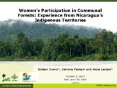 Women's participation in communal forests: experience from Nicaragua's indigenous territories