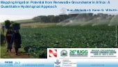 Mapping Irrigation Potential from Renewable Groundwater in Africa: A Quantitative Hydrological Approach