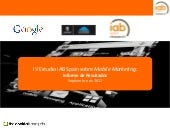 IV Estudio sobre Mobile Marketing de IAB Spain (09/12)