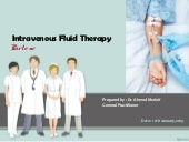 Iv fluid therapy (types, indication...