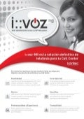 Catálogo comercial i::voz-NG Call Center Edition
