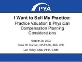 I want to sell my practice webinar presentation