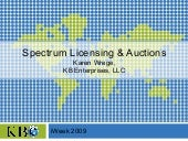 Spectrum Auctions for iWeek South A...
