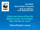 Entry into force of the UN Watercou...