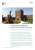 Delivering an Academic Advantage - A PTC University eLearning Library Case Study from the Rochester Institute of Technology