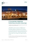 Delivering an Academic Advantage - A PTC University eLearning Library Case Study from the University of North Carolina
