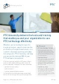 PTC University Delivers The Tools And Training That Enable You And Your Organization To Use PTC Technology Effectively